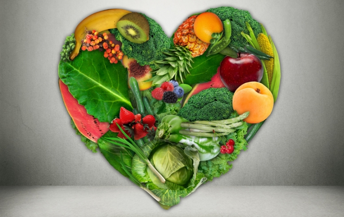 Healthy diet choice and heart health concept